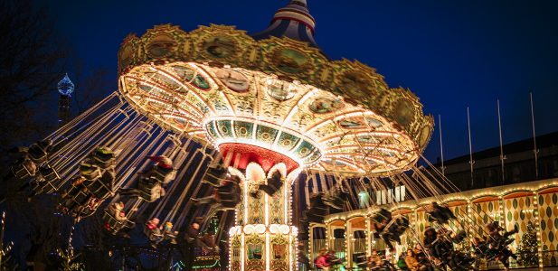 Tivoli, the 170-year-old amusement gardens in central Copenhagen, used to be only a summer pass-time. In 1994, however, the first Christmas in Tivoli opened, and Tivoli's special magic proved to be longer lasting than the short Danish winter days. With thousands of lights adorning the historic buildings and gardens, and with charmingly themed villages and shops full of tasty treats and dazzling decorations, Tivoli oozes Christmas. Add to that the wonderful restaurants and the many thrilling ride